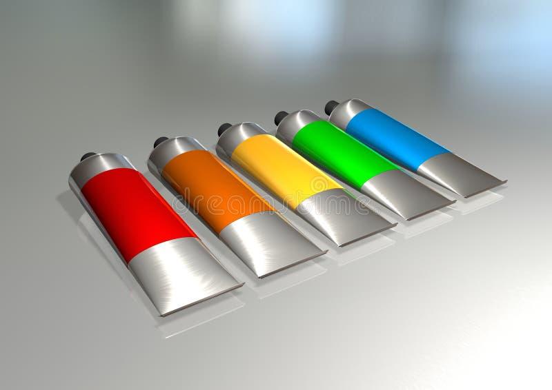 Download Paint tubes stock illustration. Image of blue, paint - 10873984