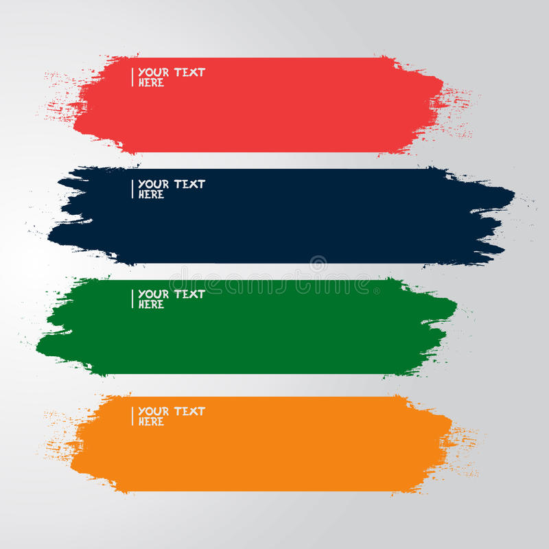 Paint vector template royalty free stock photography