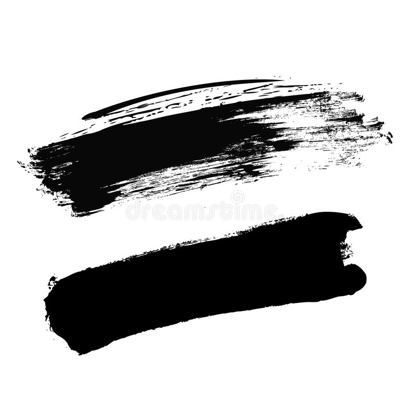 Paint vector template black royalty free stock photos