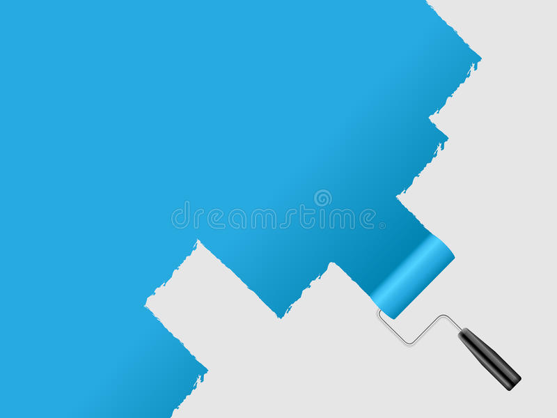 Paint wall royalty free illustration