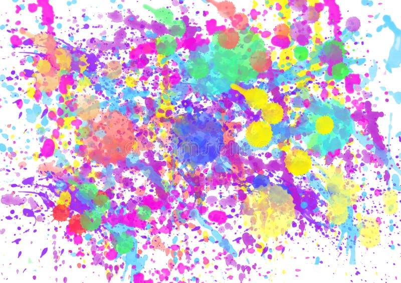 Paint watercolor splatter spray royalty free illustration