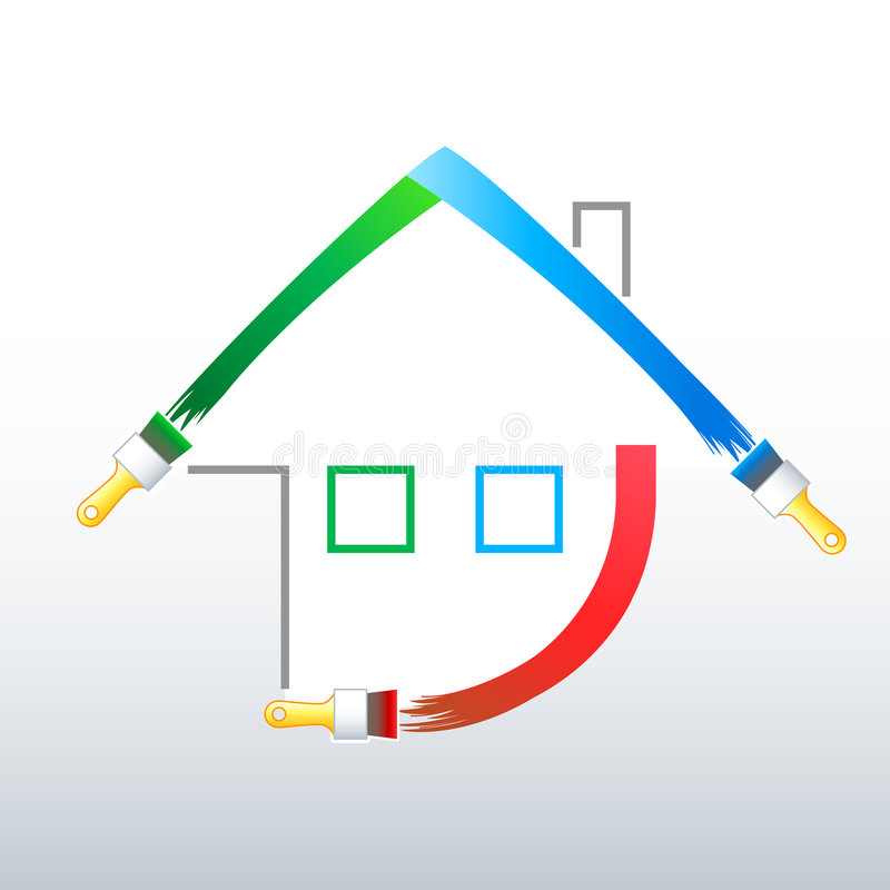 Paint your new home! stock illustration