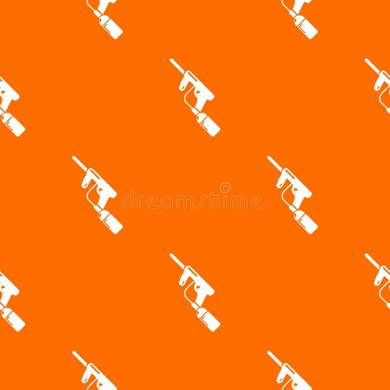 Paintball ładuje wzoru wektoru armatnia pomarańcze ilustracji