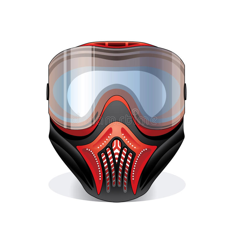 paintball маски иллюстрация штока