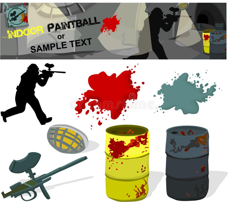 Paintball illustration de vecteur