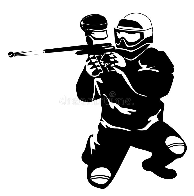 Paintball illustration libre de droits