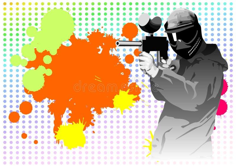 paintball бесплатная иллюстрация