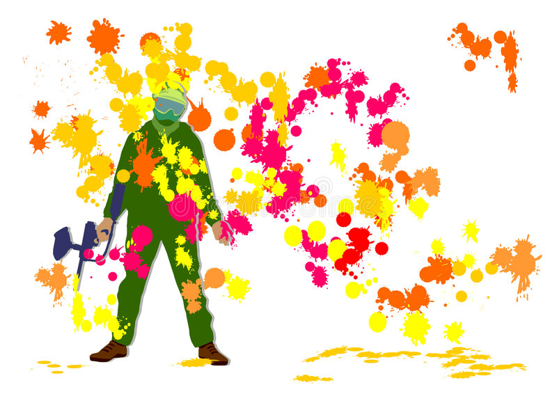 paintball royalty ilustracja