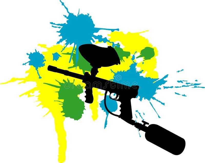 paintball illustration de vecteur
