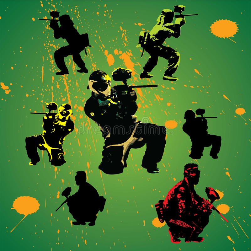 Paintball illustration stock