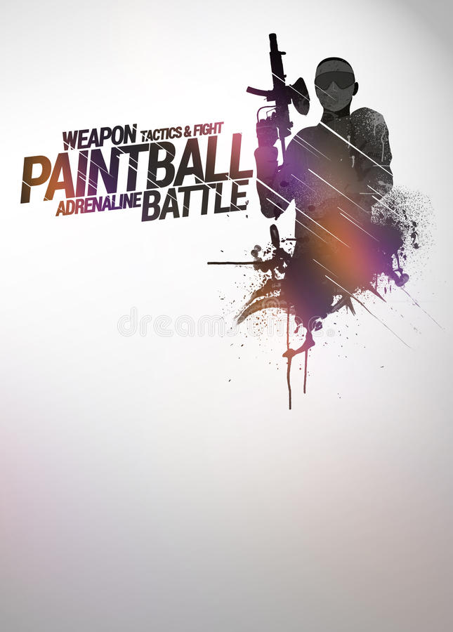 Paintball or airsoft background vector illustration