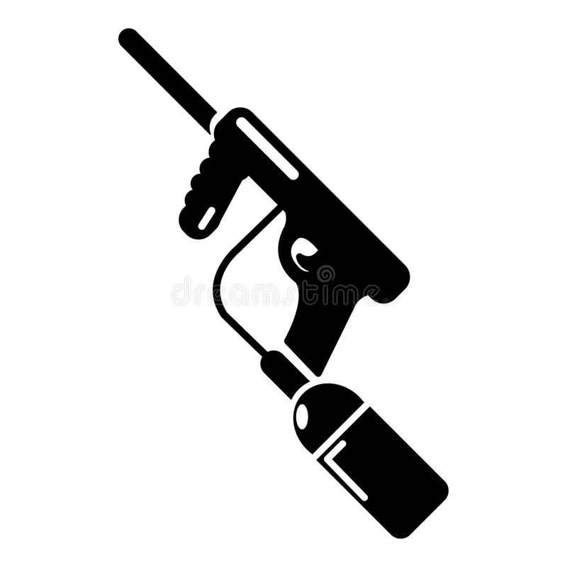 Paintball armatnia ładuje ikona, prosty styl ilustracja wektor