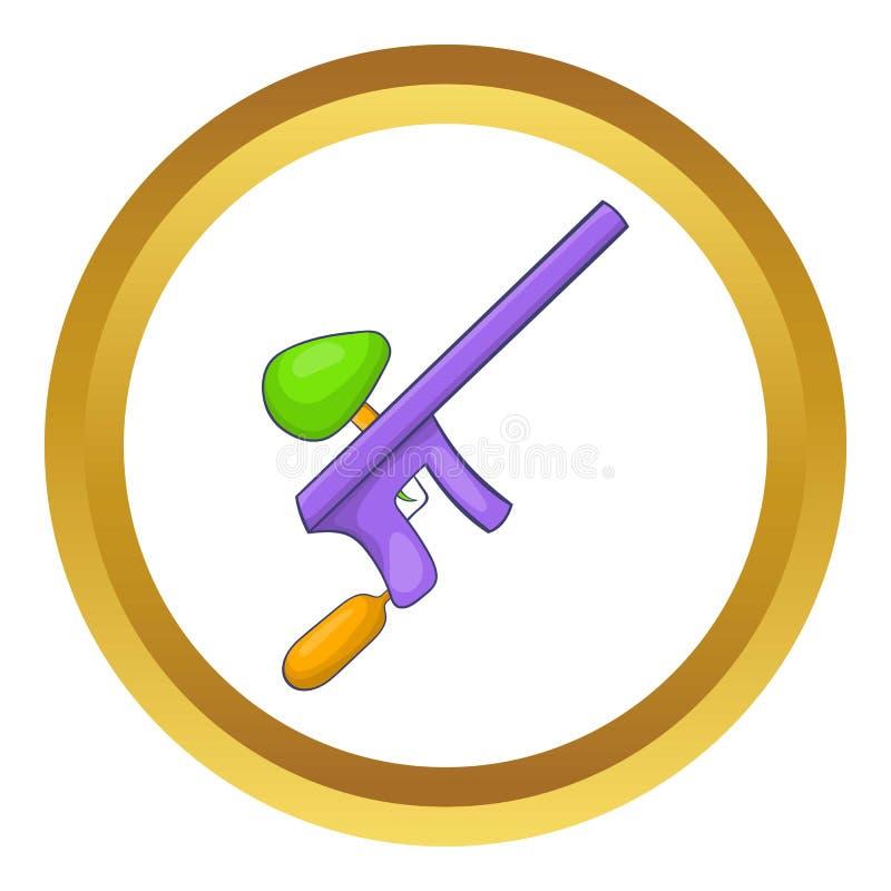 Paintball armatnia ikona ilustracji