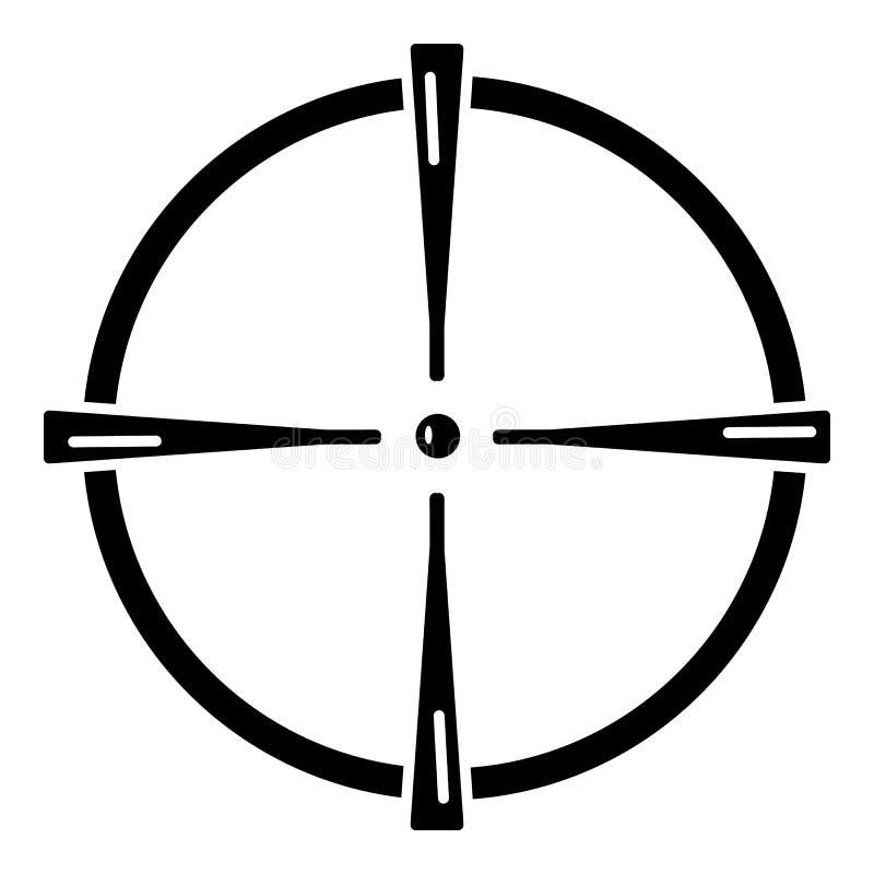 Paintball armatniego widoku ikona, prosty styl ilustracji