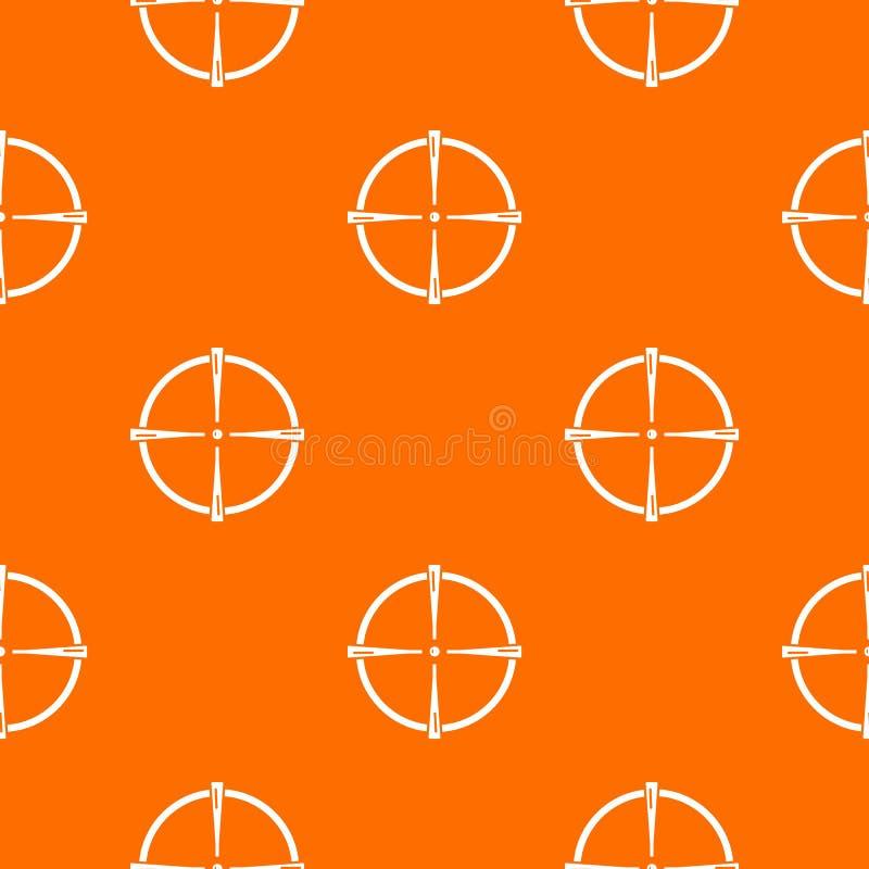 Paintball armatniego widoku wzoru wektoru pomarańcze ilustracja wektor