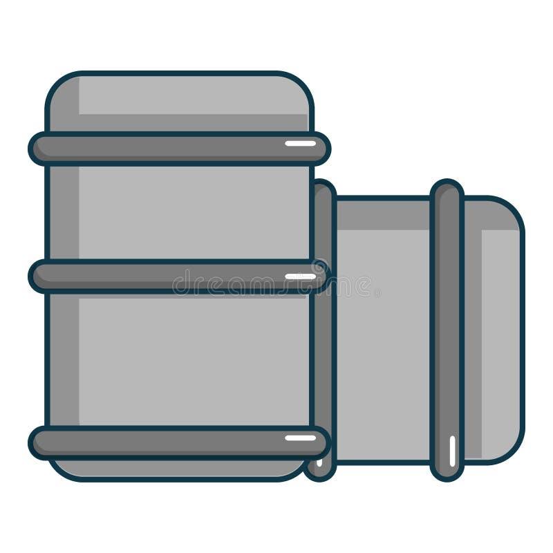 Paintball barell ikona, kreskówka styl ilustracja wektor