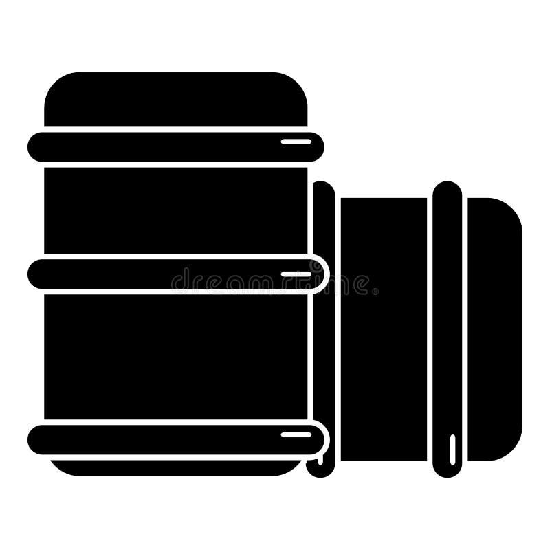 Paintball barell wyposażenia ikona, prosty styl royalty ilustracja