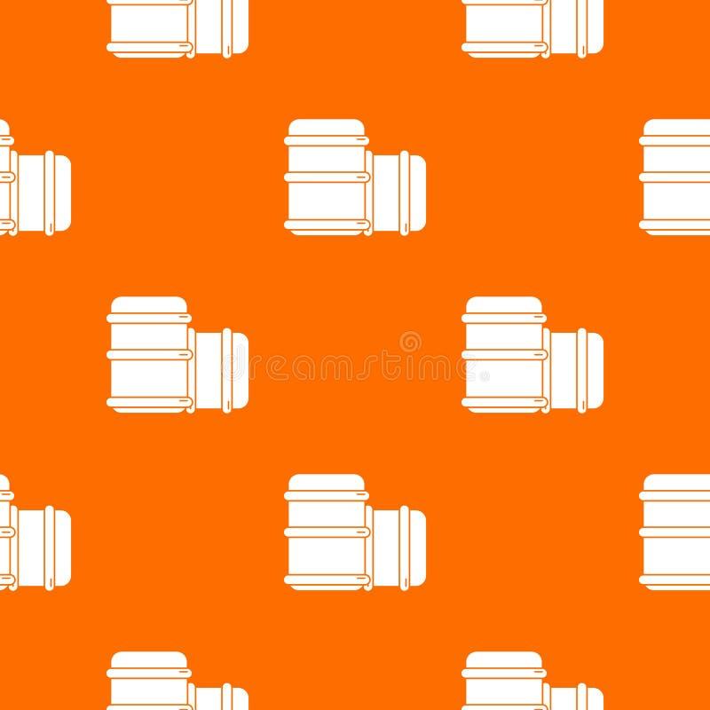 Paintball barell wyposażenia wzoru wektoru pomarańcze royalty ilustracja