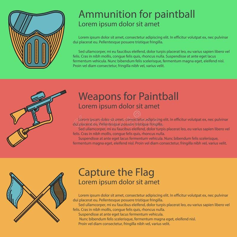 Paintball barwiona ilustracja ilustracji