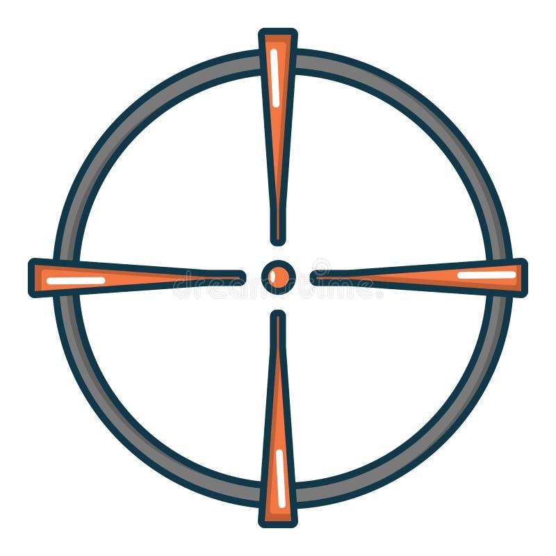 Paintball celownicza ikona, kreskówka styl ilustracja wektor