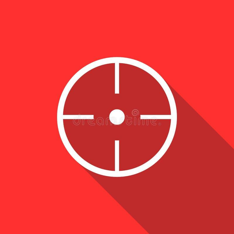 Paintball celu ikona, mieszkanie styl ilustracji