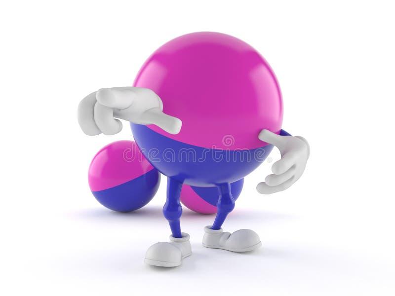 Paintball charakter wskazuje palec ilustracja wektor