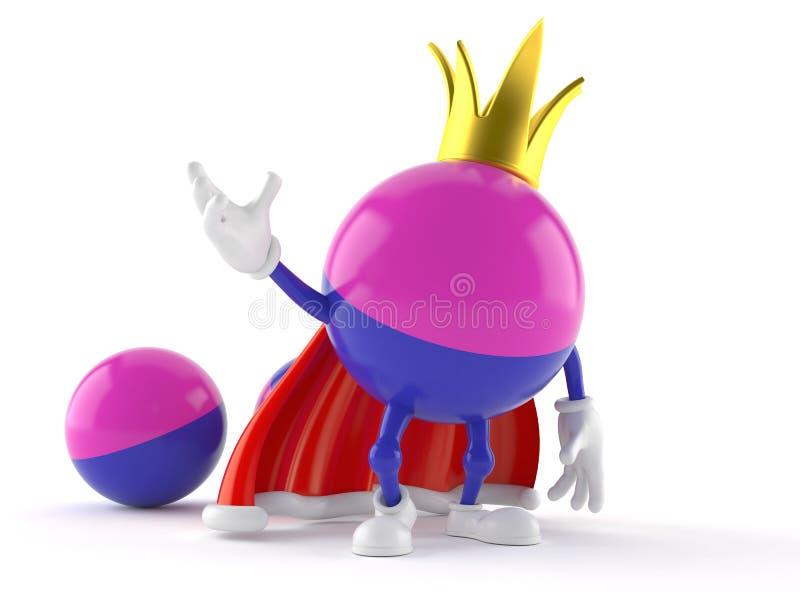 Paintball charakter z koroną ilustracja wektor