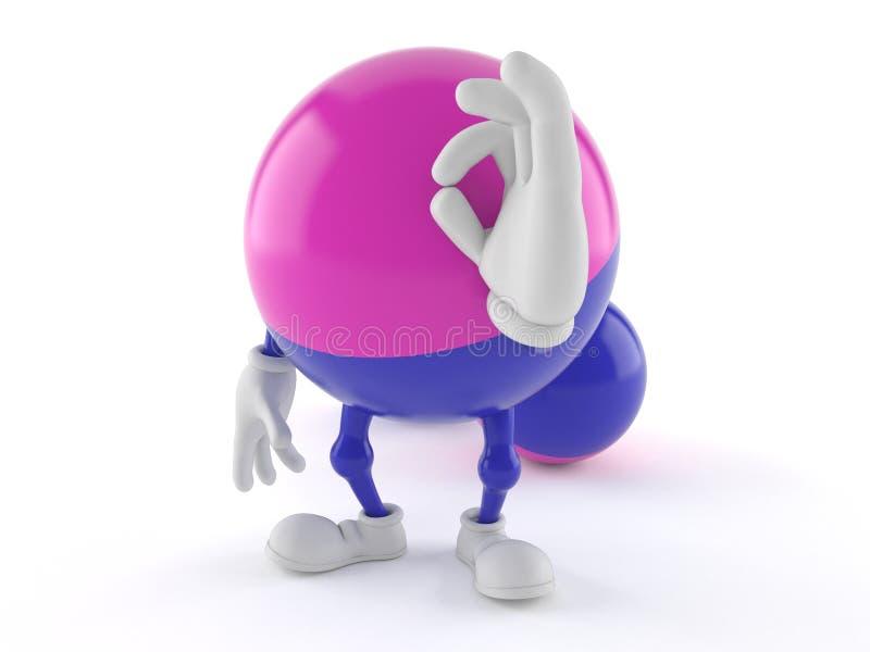 Paintball charakter z ok gestem ilustracji