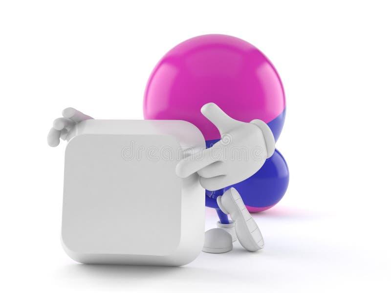 Paintball charakter z pustym klawiaturowym kluczem ilustracja wektor
