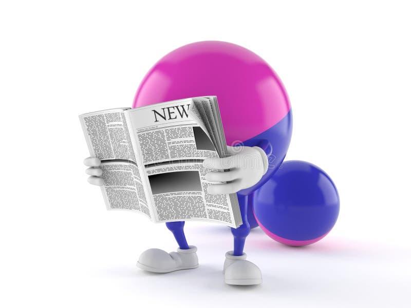 Paintball charakteru czytelnicza gazeta ilustracji