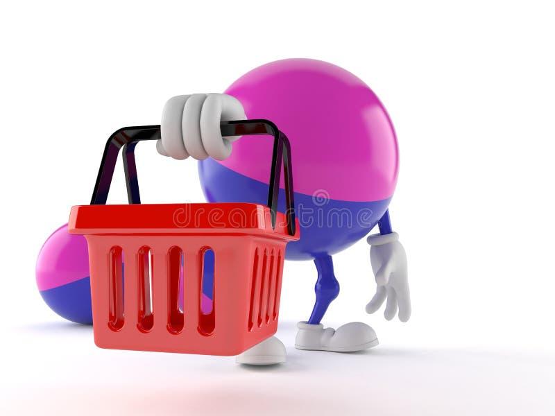 Paintball charakteru mienia zakupy kosz royalty ilustracja