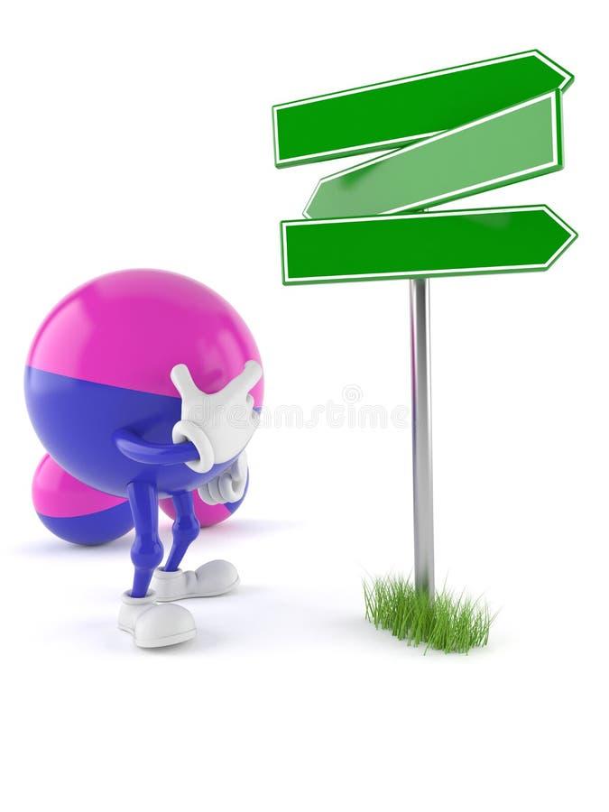Paintball charakteru pustego miejsca kierunkowskaz ilustracja wektor