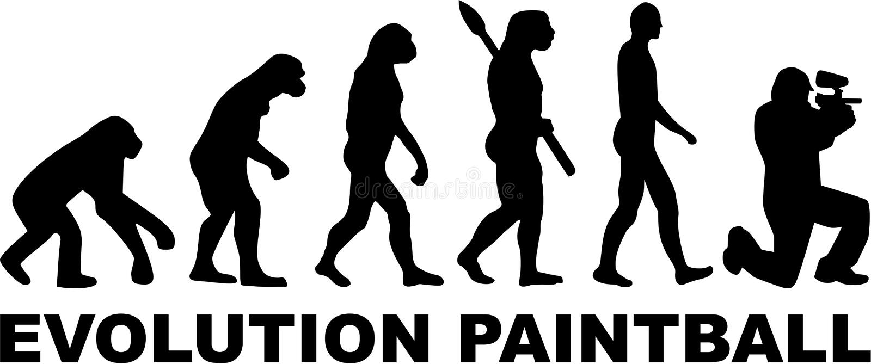 Paintball d'évolution illustration libre de droits