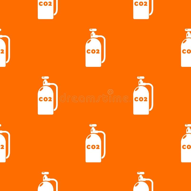 Paintball dwutlenek węgla wzoru wektoru pomarańcze ilustracja wektor
