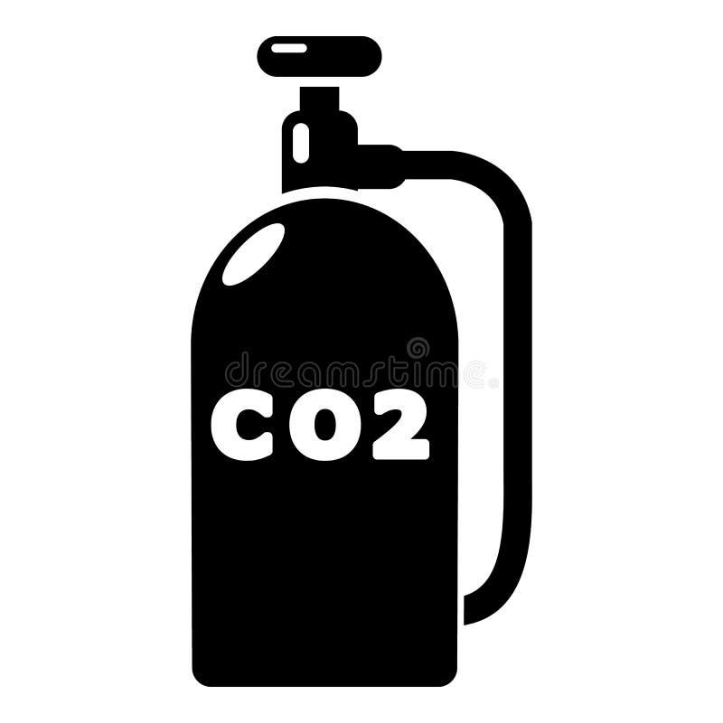 Paintball dwutlenku węgla ikona, prosty styl royalty ilustracja