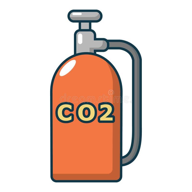 Paintball dwutlenku węgla kanisteru ikona, kreskówka styl ilustracja wektor