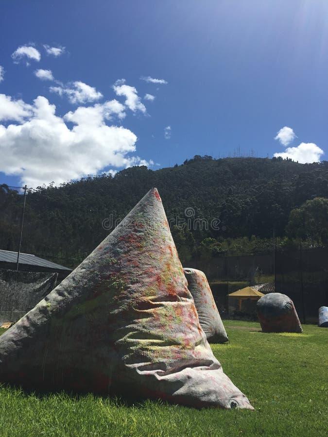 Paintball Ecuador royaltyfri bild