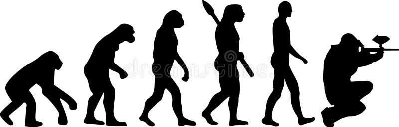 Paintball ewolucja royalty ilustracja