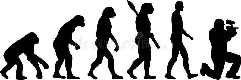 Paintball ewolucja ilustracji