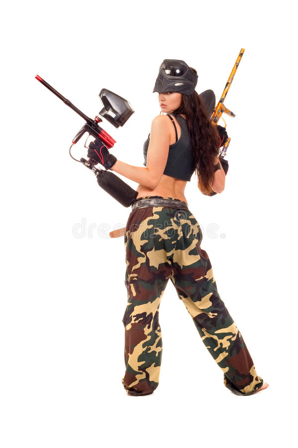 Free Paintball Girl Stock Images - 13539584