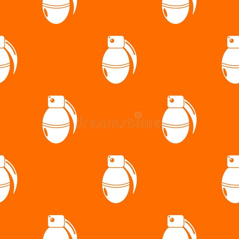 Paintball granata amunicji wzoru wektoru pomarańcze royalty ilustracja