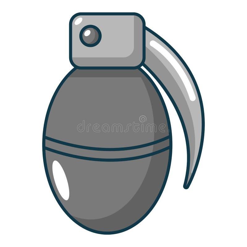 Paintball granata ikona, kreskówka styl royalty ilustracja