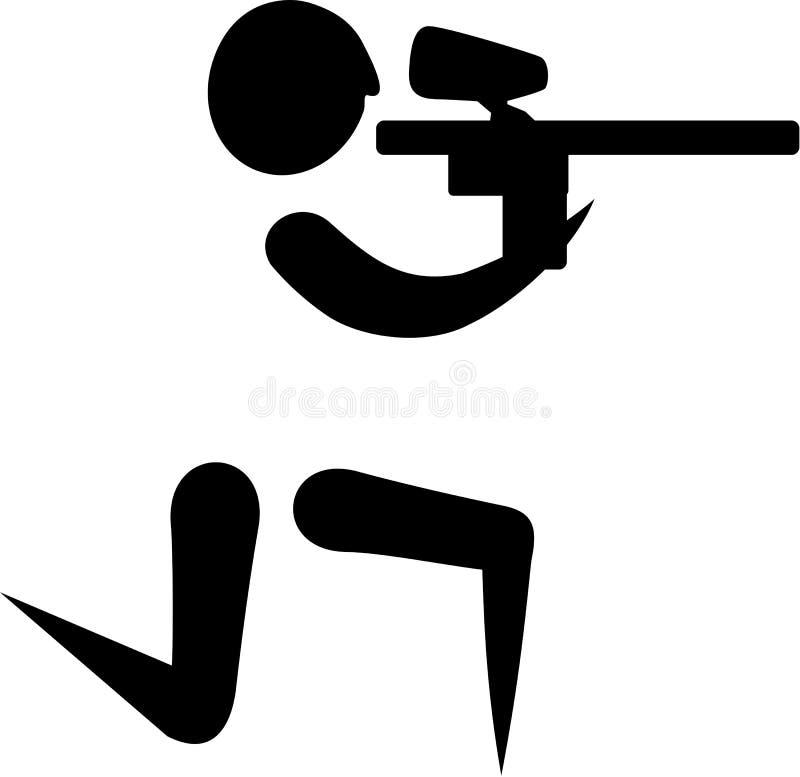 Paintball ikona ilustracja wektor