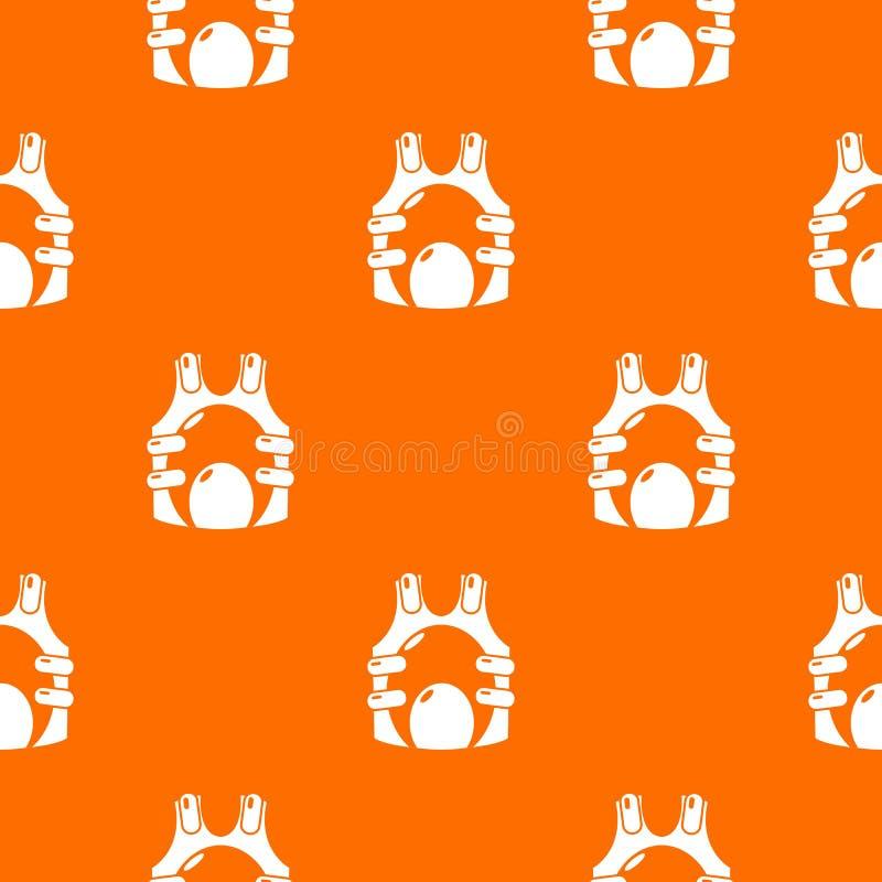Paintball kamizelki amunicji wzoru wektoru pomarańcze ilustracja wektor