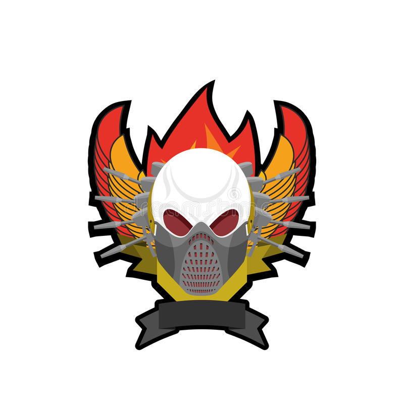 paintball logo military emblem army sign skull in protective rh dreamstime com paintball logo png paintball logo png