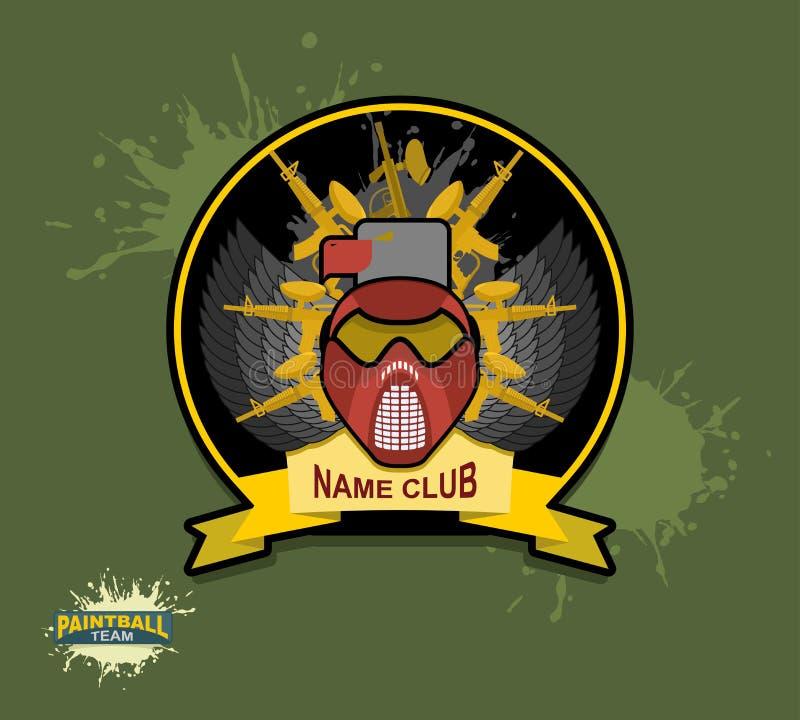 Paintball logo paintball pistolety royalty ilustracja
