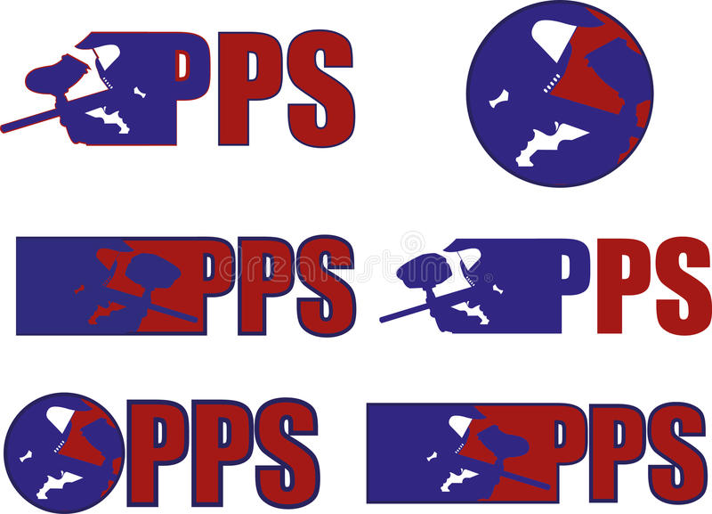 PAINTBALL LOGOS. THIS ARE PAINTBALL LOGOS FOr YOU TO USE, ARE VERY SIMPLE ANS EASY TO USE vector illustration