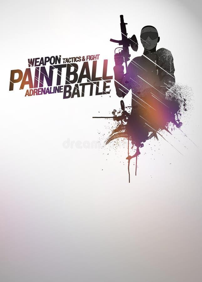 Paintball lub airsoft tło ilustracja wektor