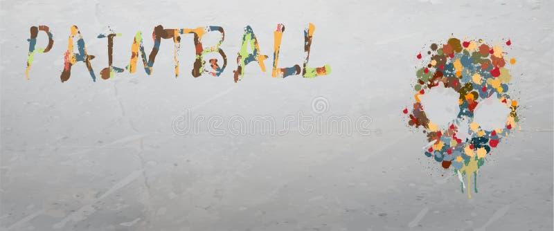Paintball lub airsoft tło ilustracji