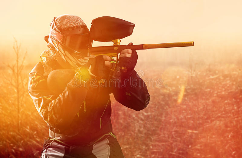 Paintball stock photography